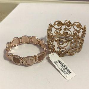 Two Charming Charlie Bracelets Rose gold & Gold